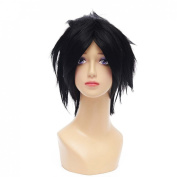 Cosidol Death Note L Wig Men Stylish Black Short Synthetic Anime Cosplay Party Wigs