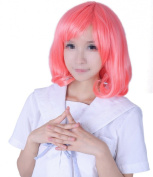 Toptheway Short Cherry Red Anime Cosplay Synthetic Wig