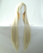 SMILE Wig 80 Cm Anime Cosplay Costume Young Long Straight Synthetic Hair For Harajuku Beige Beautiful Lolita
