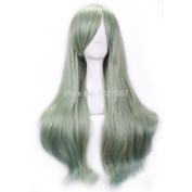 SMILE Wig 75 Cm Harajuku Anime Hair Cosplay Long Full High Quality Synthetic For Party Halloween Christmas Dark Green