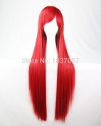 SMILE Wig 80 Cm Anime Cosplay Costume Long Straight Synthetic Hair For Harajuku Red Beautiful Lolita