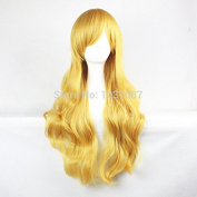 SMILE Wig 80 Cm Harajuku Long Wavy Curly Synthetic Hair Synthetic Blonde Women Anime Cosplay Costume Party s