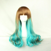 SMILE Wig 65 Cm Harajuku Cosplay Long Wave Synthetic Halloween Christmas Party Full Lace Anime Ombre High Quality
