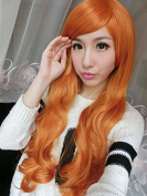 SMILE Wig Harajuku 80 Cm Women's /Lady Heat Resistant Cosplay Curl Curly Big Wave Lace Front Blonde Long Synthetic Anime Party