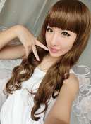 SMILE Wig Harajuku Curl Cosplay Synthetic Young Long Pad For Hair Stylish Lady Black/Light Brown/Dark Brown Top Quality Hairpiece