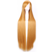 SMILE Wig 100 Cm Cosplay Anime Harajuku Women Men Sexy Party Long Straight Heat Resistant Synthetic Hair Gold