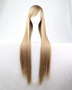 SMILE Wig 80 Cm Anime Cosplay Young Long Straight Synthetic Hair For Japanese Harajuku Light Brown Beautiful Lolita