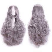SMILE Wig 80 Cm Harajuku Cosplay Anime Women Long Full Curly Sexy Heat Resistant Synthetic Hair Costume Party
