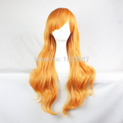 SMILE Wig 80 Cm High Quality Synthetic Hair For Women Men Long Wavy Party Shiny Dark Blonde Salomon Sexy Lolita