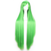 SMILE Wig Harajuku 100 Cm Cosplay Anime Women Men Sexy Green Party Full Long Straight Synthetic Hair