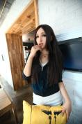 SMILE Wig 68 CM Harajuku Anime Cosplay Fashion Charm Black Dark Brown Light Brown Personality Synthetic Straight Hair