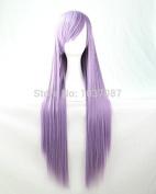 SMILE Wig Stylish Long Straight Synthetic Hair Lady's Light Purple Beautiful Lolita 80 Cm Anime Costume Harajuku