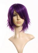 SMILE Wig 36 Cm Harajuku Anime Cosplay Young Short Purple Synthetic Hair / For Japanese Anime Halloween Costume