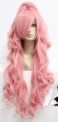 SMILE SELL 90cm Long VOCALOID-Megurine Luka Pink Cosplay Wig One Ponytail