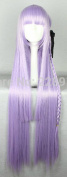 SMILE 100cm Long Dangan Ronpa Kyouko Kirigiri Light Purple Braid Cosplay Wig