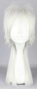 SMILE 50cm Long PSYCHO PASS Makishima Shogo White Cosplay Costume Wig