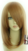 SMILE 45cm Medium Brown Wigs Heat Resistant Synthetic Bobo Short Straight Hair Wigs for Wigs