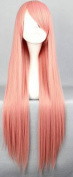 SMILE 80cm Long Pandora Hearts-Charlotte Baskabiru Long Pink Cosplay Wig