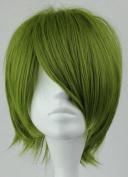 SMILE Cosplay Anime Kuroko no Basuke-Midorima Shintaro 32cm Short Army Green Cosplay Wig