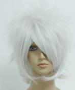 SMILE Man 35cm Short Gintama Sakata Gintoki Silvery White Cosplay Wig