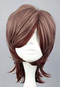SMILE 35cm MSN multi colour heat resistant short synthetic wig