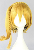 SMILE 40cm Phantom project Such as peach Yellow Golden Cosplay Costume Wig