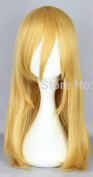 SMILE 55cm Medium Long Straight Light Yellow Attack on Titan Krista Lenz Yellow Cosplay Wig