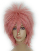 SMILE cosplay Anime Wig Fairy Tail-shima renzou short straight 32cm Short Cosplay Pink Short Wig