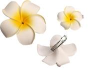 MERSUII™ 2 PCS Romantic Plumeria Hawaiian Foam Frangipani Hairpin Side Hair Clip Beach Wedding Flower Hair Accessory