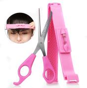 MERSUII™ Cute Hair Tools Bang Cut Kit Scissor + Hair Clip