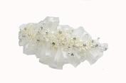 Handmade Wedding Headband Hair Clip with Rhinestones Pearl Flower Wedding Bridal Prom Birthday Pageant Headpiece Pin