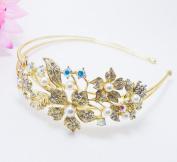 Beautyxzy Elegant Rhinestone Crystal Rhodium Prom Bridal Wedding Tiara Flower Headband 133