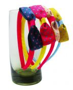 Girl Baby Toddler Grosgrain RibbonHair Bow Headband Polka Dot 4pcs by ColorBeBe