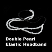 ACE Elastic Double Imitation Pearl Hairband Headbands Rope Hoop Elegant