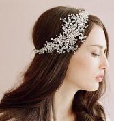 Handmade Zircon Crystal Tiara Crown Bridal Wedding Party Headband Headpiece