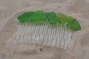Pretty Green Sea Glass Hair Comb