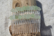 Genuine Sea Foam Sea Glass Hair Combs