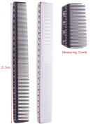 2pcs Hair Cutting Comb, Styling Measure Combs-black & White