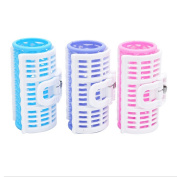 Easy Lifestyles 3PCS Plastic DIY Dry And Wet Use Hair Curler Roller Clips Set