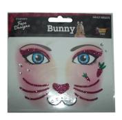 Glittered Face Designs (BUNNY