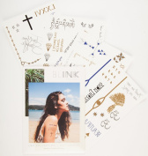 The LAX Temporary Tattoo Collection by Blink Tattoos [Celebrity Inspired Long Lasting Realistic 60+ Metallic Gold Silver Black Temporary Tattoos] ...