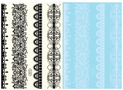 BTArtbox Fashion Black & White Lace Bady Art Stickers Removable Waterproof Temporary Tattoo All-In-One Package 2 Sheets - DiFferent Lace Pattern