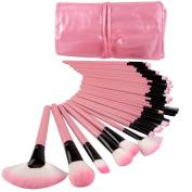 SamJoy 32 Pcs Professional Cosmetic Makeup Brush Set With Storage Bag_Pink