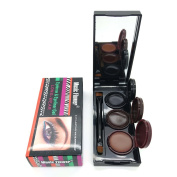 3 Colour in 1 Brown + Black + Coffee Gel Eyeliner Make Up Water-proof and Smudge-proof Cosmetics Set Eye Liner Kit