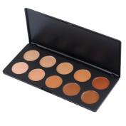 Vnfire 10 Colours Cream Camouflage Concealer Foundation Makeup Palette Contour Face Contouring Kit Beauty Tools