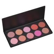 Vnfire 10 Colour Makeup Cosmetic Blush Blusher Contour Powder Palette