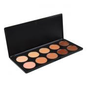 Vnfire Pro 10 Colour Cream Concealer Palette Camouflage Foundation Face Makeup Cosmetic Set