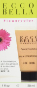 Ecco Bella FlowerColor Liquid Foundation Makeup, Natural Coverage with Organic Aloe Vera, Herbs and Vitamin E, Skin Care Product, Beauty Treatment - Natural