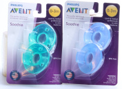 Philips Avent BPA Free Soothie Pacifier, 0-3 Months, Green/Blue, 2 Pack