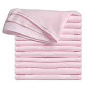 Clips N Grips® Birdseye Flatfold Cloth Nappies, Pink, 6 Count